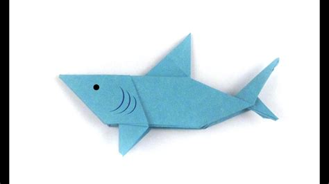 How To Make A Origami Shark - origami easy origami shark origami easy tutorial how to