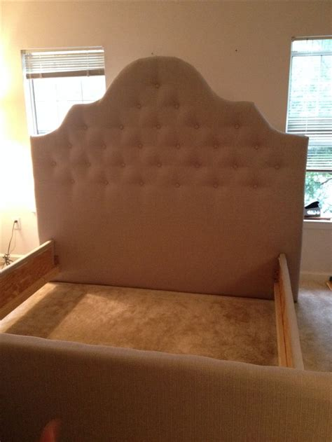 the diy headboard footboard and side rails my hubs and i built and tufted tapizado y