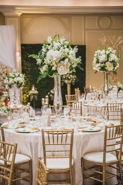 White, Gold, Champagne & Green Wedding at The Houstonian