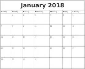 Calendar 2018 January January 2018 Calendar Pages