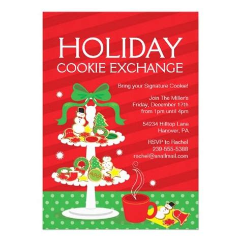 christmas cookie exchange dinner party invitation