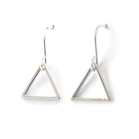 Geometric Earrings triangle minimal geometric earrings silver gold or