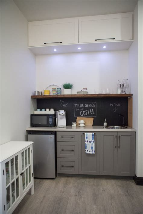 a small kitchenette is found the hallway the finished