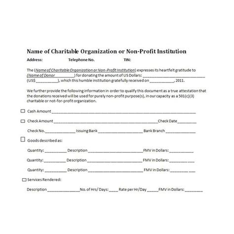 Non Profit Donation Receipt Template by Charitable Donation Receipts Requirements As Supporting