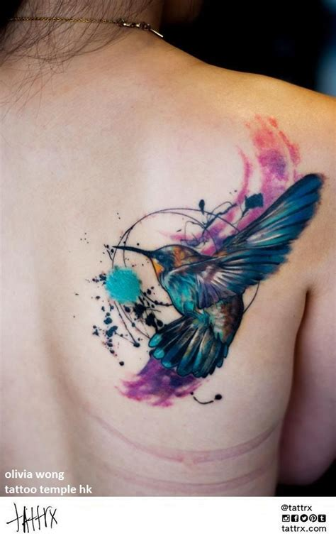 watercolor tattoos cover up best 25 hummingbird watercolor ideas on