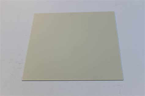 Thick Sheets | creme styrene polystyrene plastic sheet 080 quot thick 4 quot x