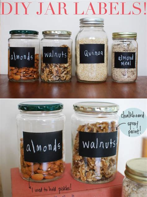 Diy Chalkboard Labels For Jars
