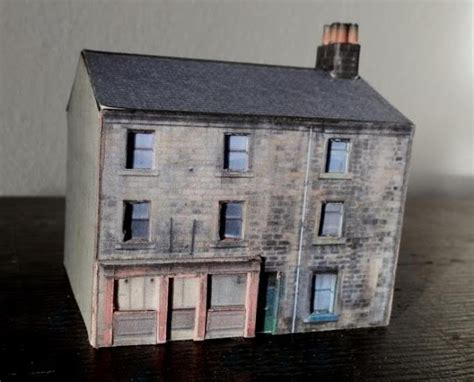 Papercraft Buildings - papermau halifax road building paper model in three
