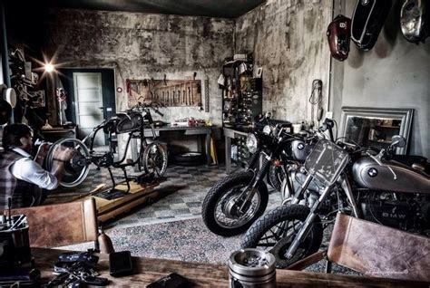 Garage Necessities by Motorcycle Shop Cycleshop Backyardbuilder Bmw