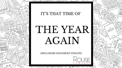 Its That Again by It S That Time Of The Year Again Disclosure Document