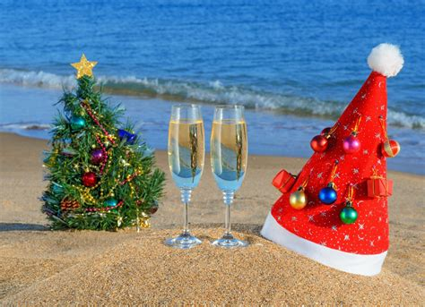 sand new year beach hats hat ocean summer christmas tree