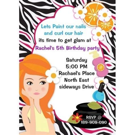 spa birthday invitation template 44 best spa labels invitations images on