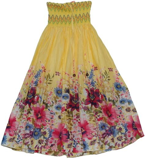 colorful yellow maxi dress smock skirt clothing dress