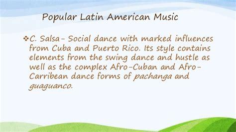 characteristics of swing music music of latin america for grade 10 ntot 2015