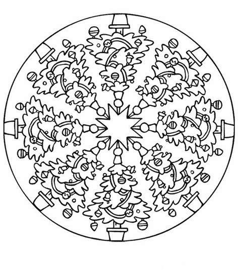 imagenes educativas mandalas navidad mandalas de navidad para colorear