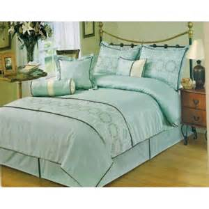 7 luxury bed in a bag mint comforter