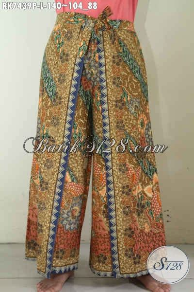 Celana Kulot Model Terbaru Katun B30417003mot5mrh Bawahan Batik Lucu celana batik kulot model tumpuk batik celana buatan