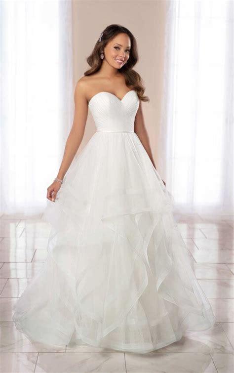 strapless ballgown wedding dress  horsehair skirt