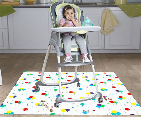Floor Mat For Highchair by Baby Toddler Feeding No Splash Floor Sheet Mat Cover Less