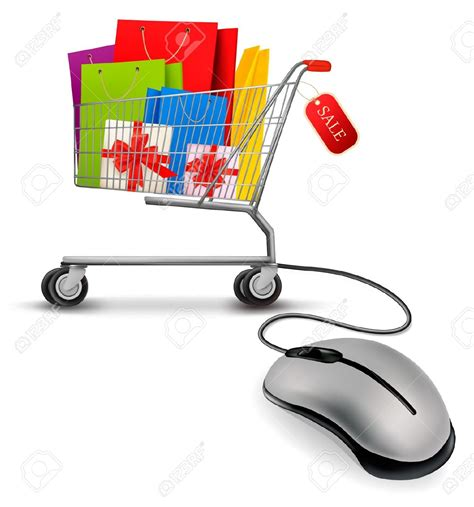 clipart on line mouse shopping clipart