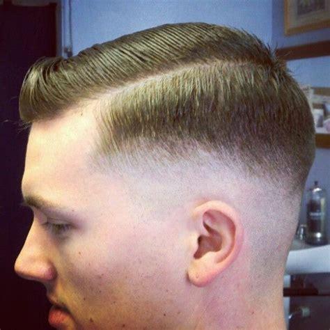 fade haircut razor lengths low razor fade side part slick barbershops pinterest
