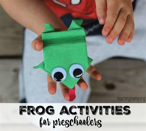 for preschoolers frog activities for preschoolers
