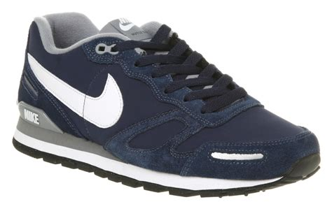Nike Waffle Trainer mens nike air waffle navy grey suede trainer shoes ebay