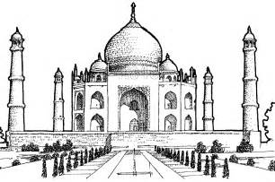 Coloring Pages Of The Taj Mahal In India sketch template