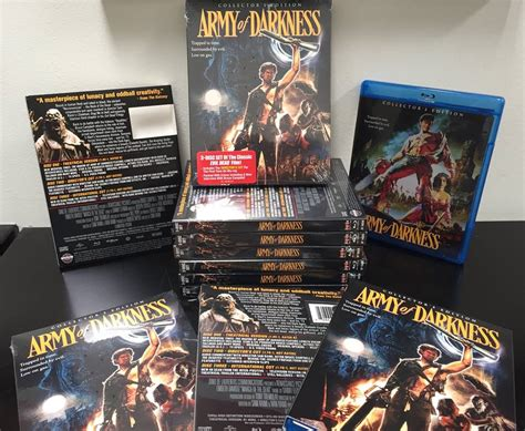 scream factory slipcovers army of darkness blu ray slipcover collector s edition