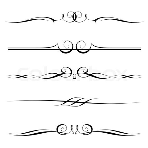 Decorative Line Borders by Decorative Elements Border And Page Vector