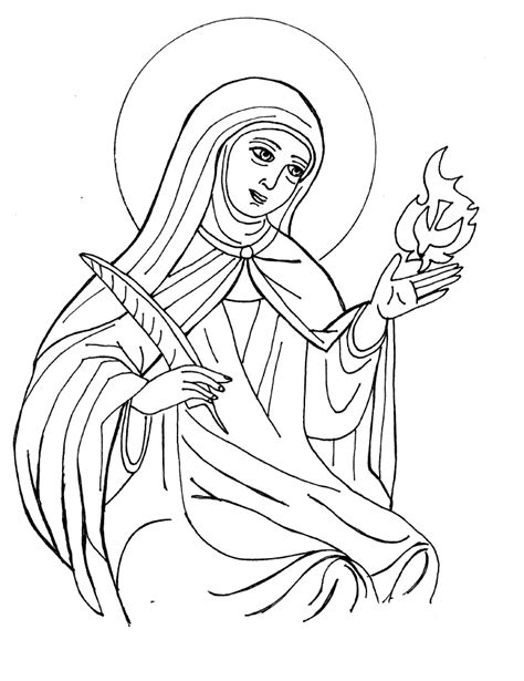 St Coloring Page saints coloring pages