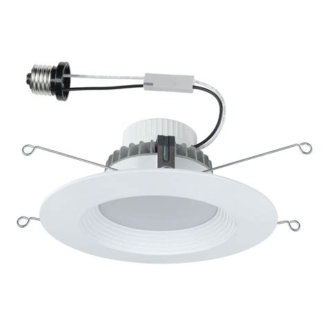 commercial recessed lighting wires commercial electric 5 in and 6 in white recessed led trim 4 pack dl n18a10fr1 27 the home