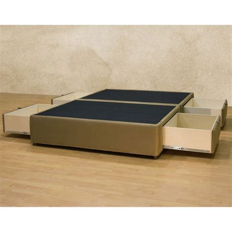 Platform Bed With Drawers Bedroom Platform Bed Drawers Size With Storage Underneath Interalle