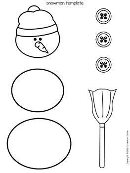 build  snowman writing activity  curriculum