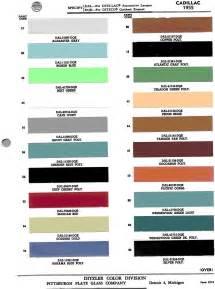 Cadillac Color Chart 1955 Cadillac Color Chart