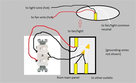 single switch for fan and light electrical how can i replace a single switch with two