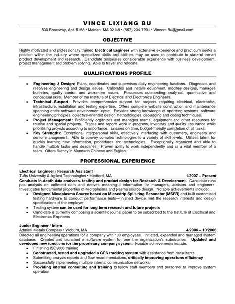Charted Electrical Engineer Sle Resume by Charted Electrical Engineer Sle Resume Haadyaooverbayresort