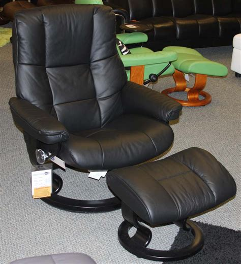 recliner stressless stressless mayfair paloma black leather recliner chair and