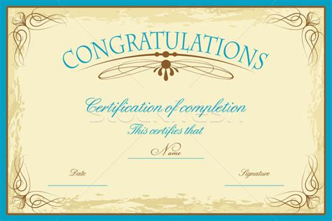 certificate design beautiful beautiful design of editable certificate of completion