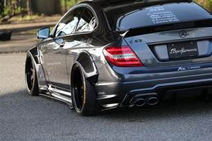 liberty walk mercedes c63 amg coupe is the angry
