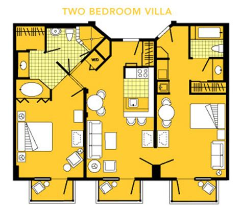 boardwalk villas one bedroom floor plan boardwalk floor plans the dis disney discussion forums