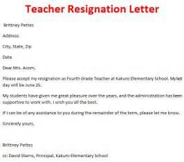 Resignation Letter To Principal Or Superintendent Resignation Letter Format Simple Thought Sayings