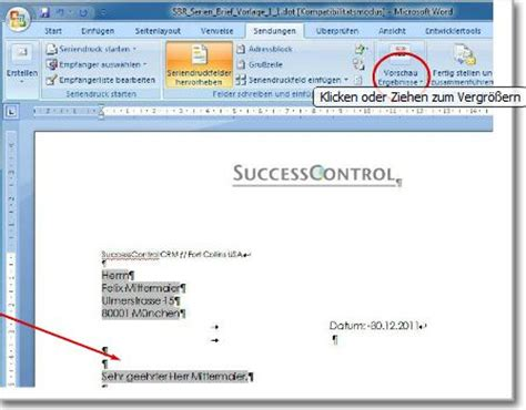 Word Vorlage Adressfeld Serienbrief Erstellen Word So Einfach Kann Es Seincrm Software Genial Einfach