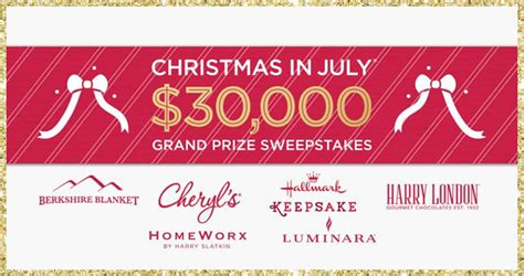 Qvc Sweepstakes - qvc christmas in july sweepstakes grand prize of 30 000