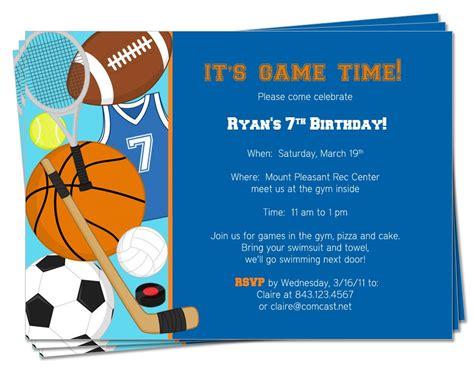 printable birthday sports theme invitation by palmettogreetings