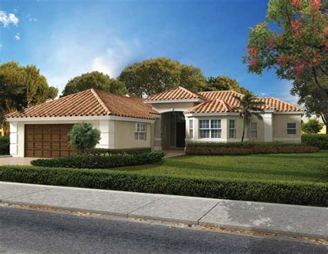 single story homes on tile this luxurious one story mediterranean style waterfront home has three bedrooms three bathrooms