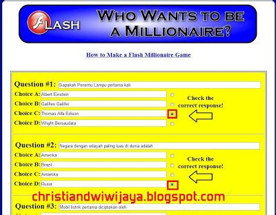 membuat game who wants to be a millionaire cara membuat game kuis who wants to be millionaire kreasi