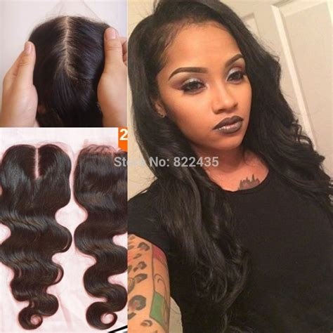 how to do a middle part closure hair style 8 quot 24 quot best cheap silk base closure malaysian virgin human