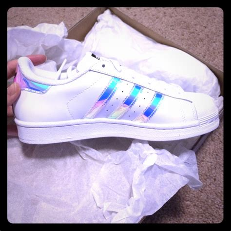 adidas shoes metallic  original superstar white poshmark