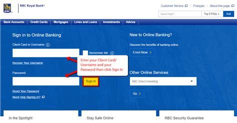 rbc royal bank sign in to banking rbc royal bank banking login cc bank